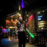 LED juggling by JimmyJuggler in Singapore