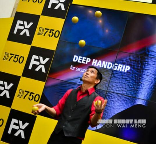 Juggler at Nikon event in Singapore