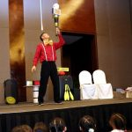 Juggler performs Juggling Show