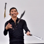 Knives Juggling by JimmyJuggler in a Corporate Dinner Show